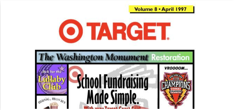 First Version of Target Website