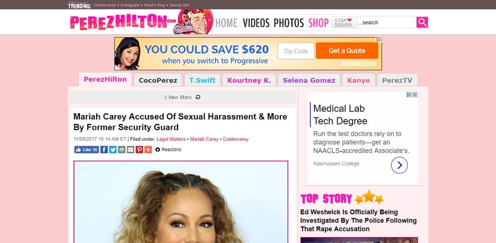 Perez Hilton uses WordPress