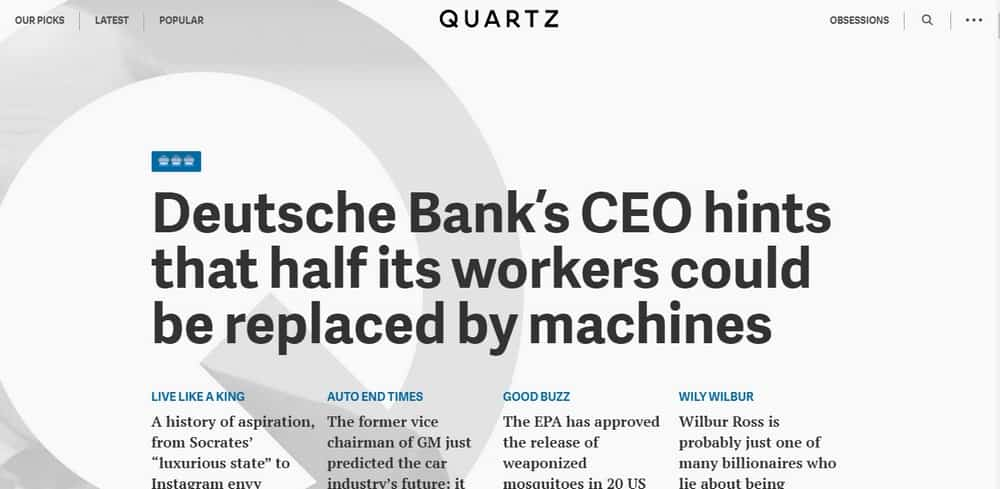 Quartz uses WordPress