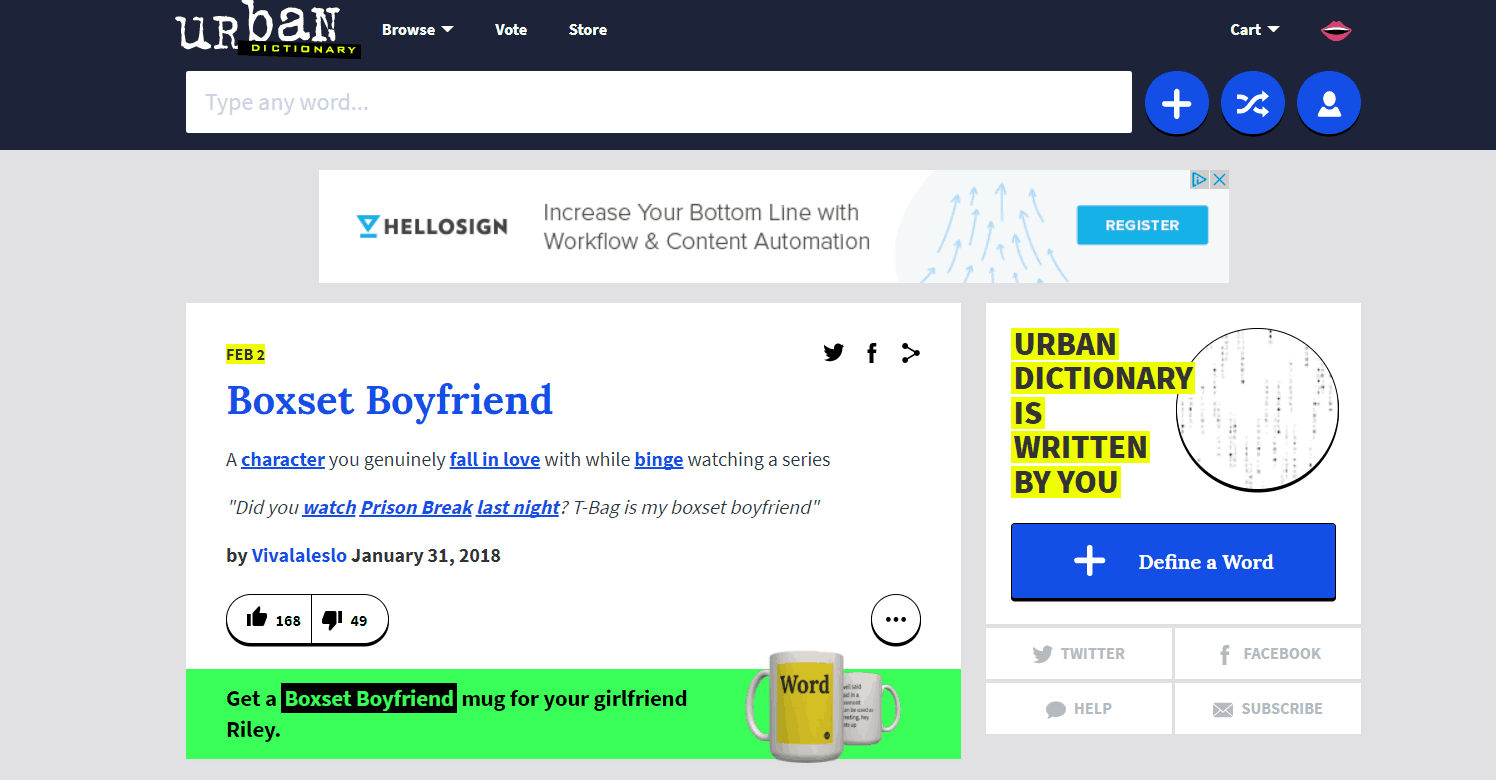 Urban Dictionary uses Ruby on Rails